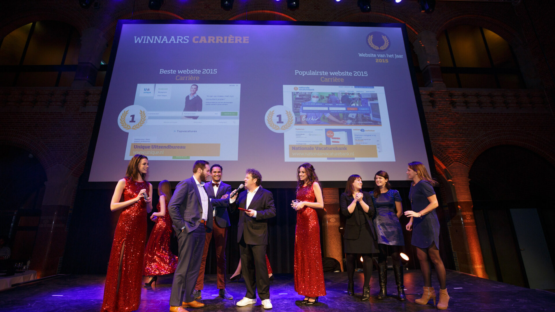 Unique winnaars - website van het jaar