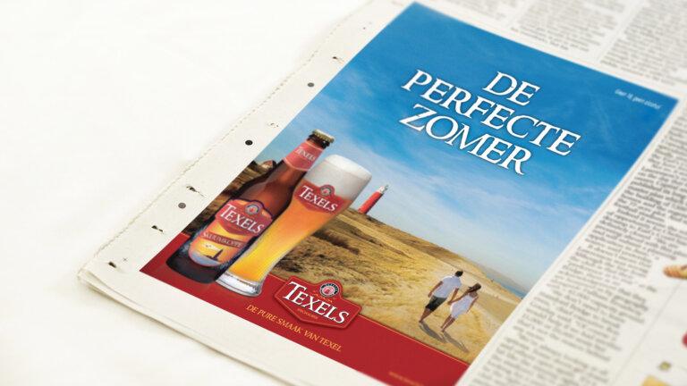 Adv krant Texelse bierbrouwerij - brand identity