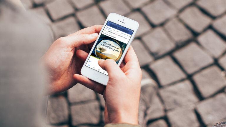 SNP Natuurreizen iPhone afbeelding - Corporate identity