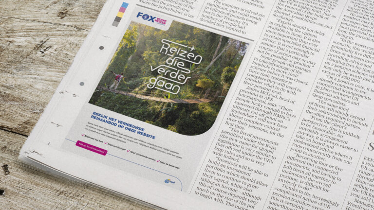 Krant advertentie voor corporate campagne FOX