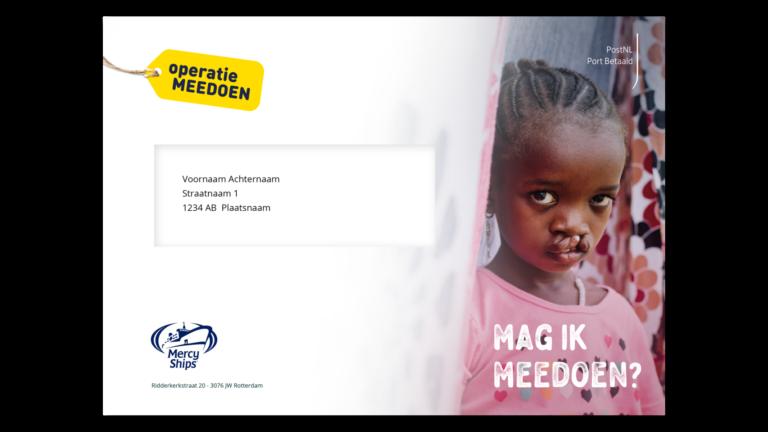 Onderdeel campagneconcept voor Mercyships