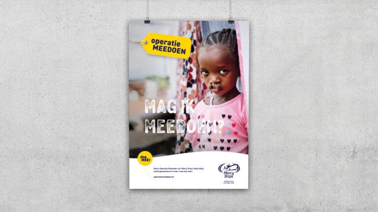 Poster voor opgezette campagne MercyShips