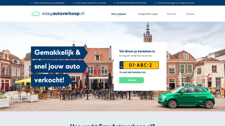Website Easyautoverkoop.nl - website design gemaakt door Redmatters