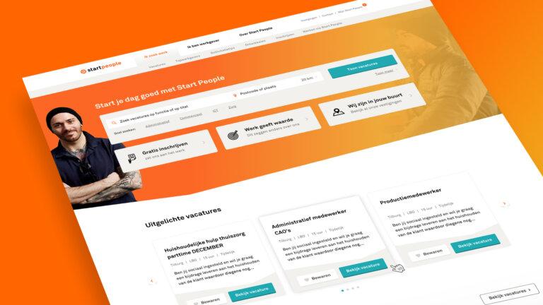 StartPeople website ontwikkelen