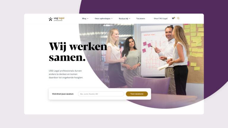 Nieuwe website USG