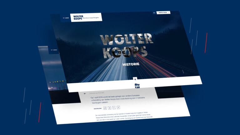 Website design maken voor Wolter Koops