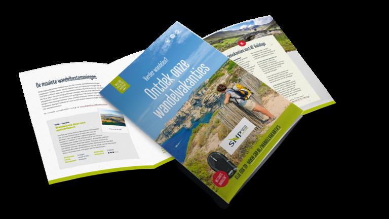 Folder SNP Natuurreizen - Corporate identity