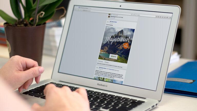 SNP Natuurreizen laptop - Corporate identity