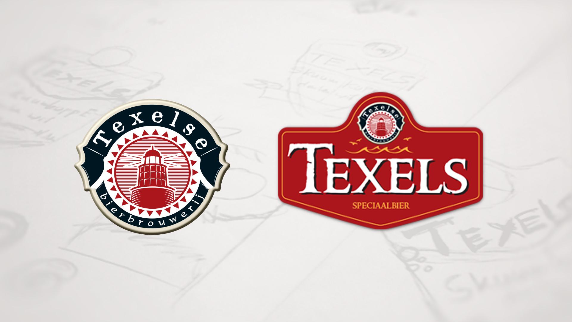 Texelse bierbrouwerij logo nieuw en oud