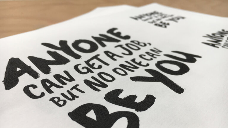 schets Young Talent Factory - brand identity