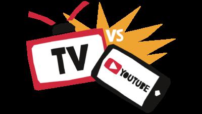 Battle Youtube vs TV afbeelding