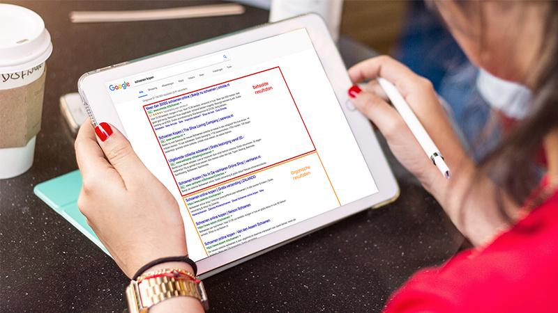 Zoekmachine optimalisatie - SEO - zoektermanalyse - verschil organisch en betaald