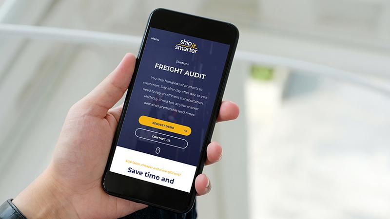 Mobiele website Shipit Smarter