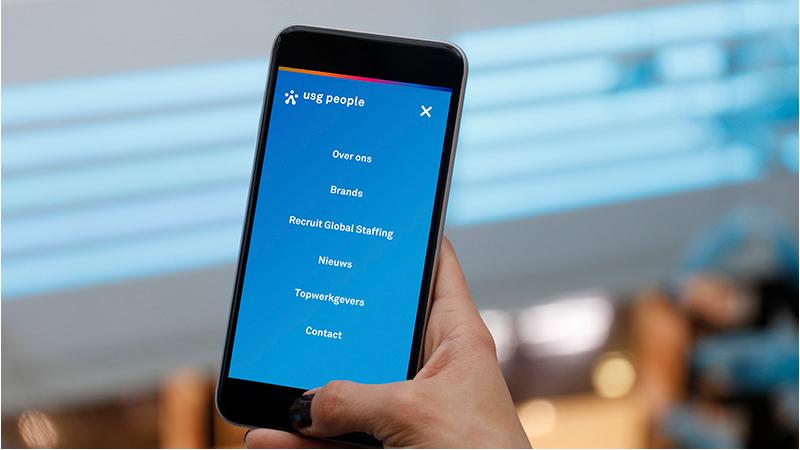 Nieuwe website USG - mobiel