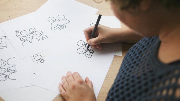 Iconen schetsen Sprank