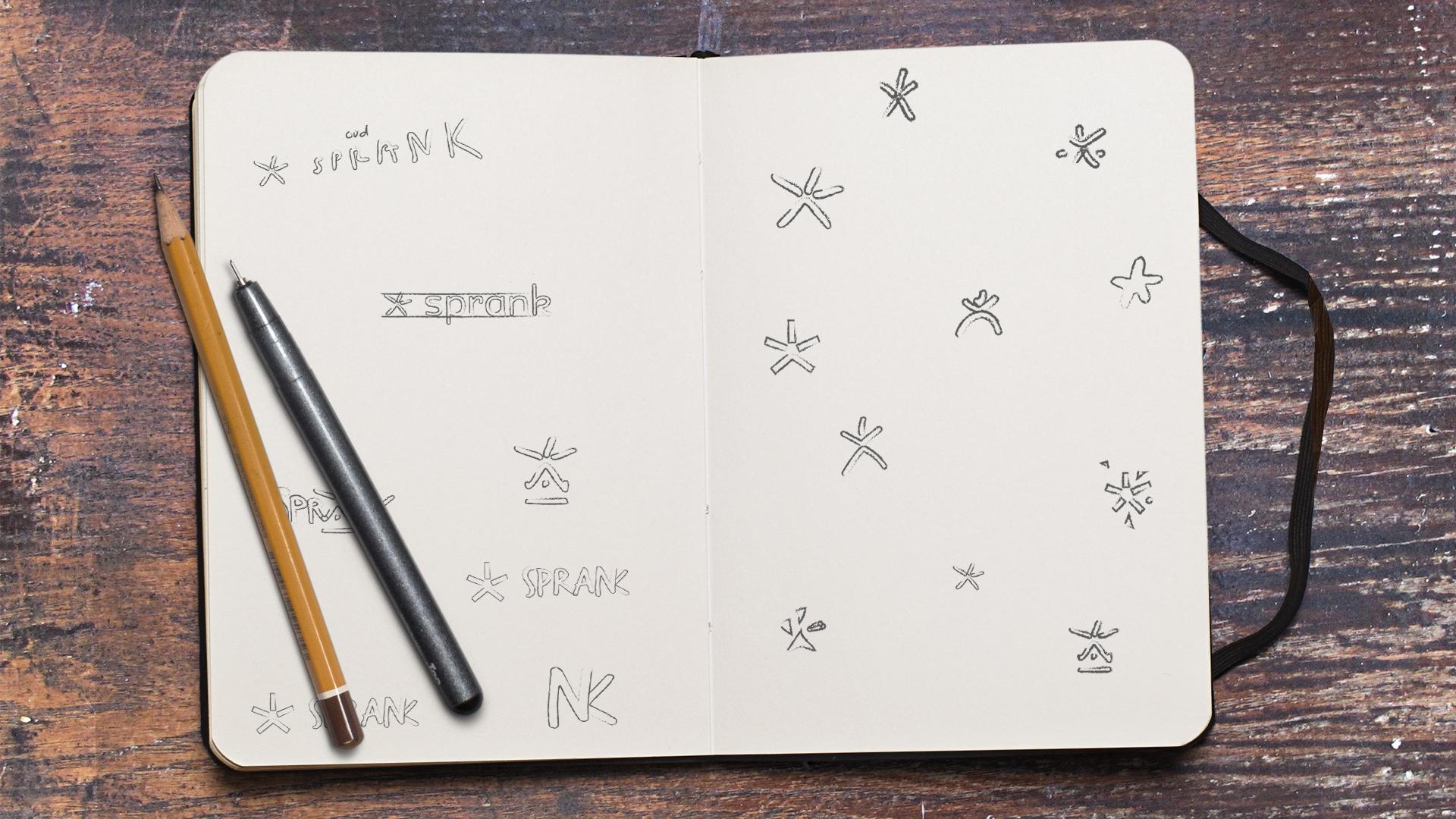 Sprank schetsen boek