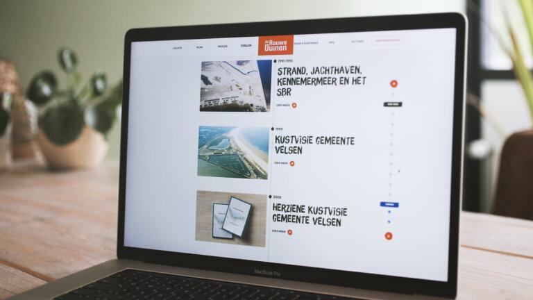 Website tijdlijn - Merkconcept