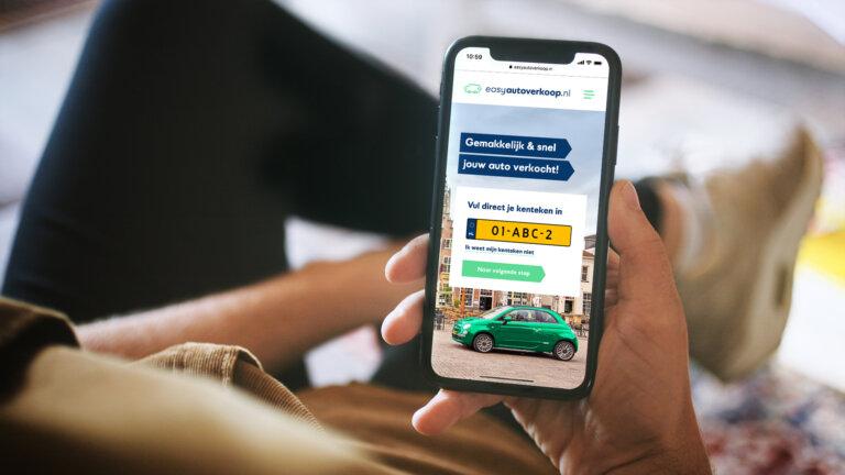 Mobiele website Easyautoverkoop.nl - Website ontwikkelen door ons digital team