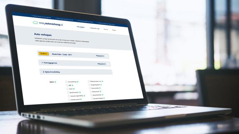Ontwikkelde website voor easyautoverkoop.nl