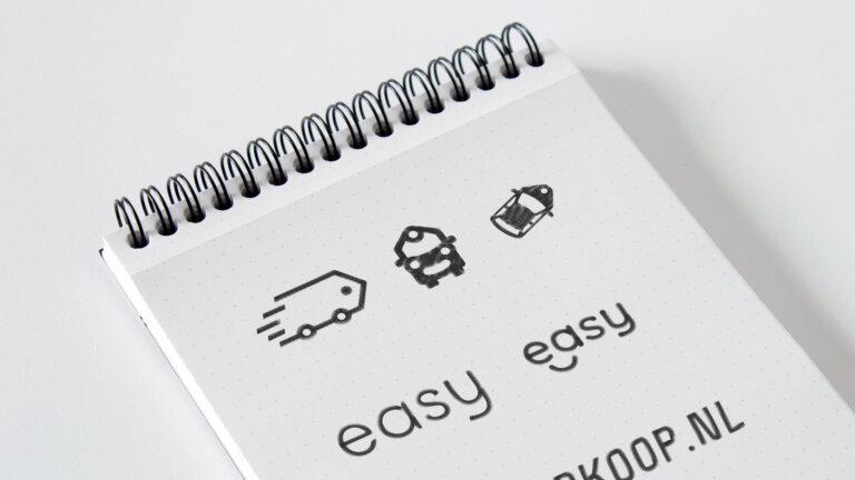 EasyAutoverkoop logo schetsen