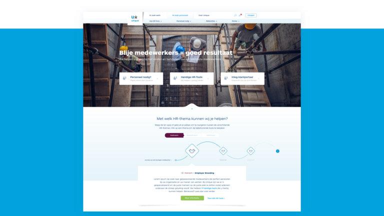 Website onderdeel Unique