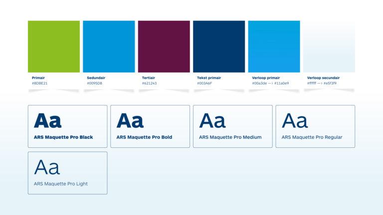 Kleuren en fonts website unique