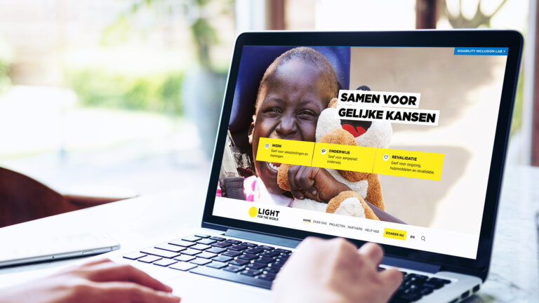 Online marketing uitbesteed door light for the world