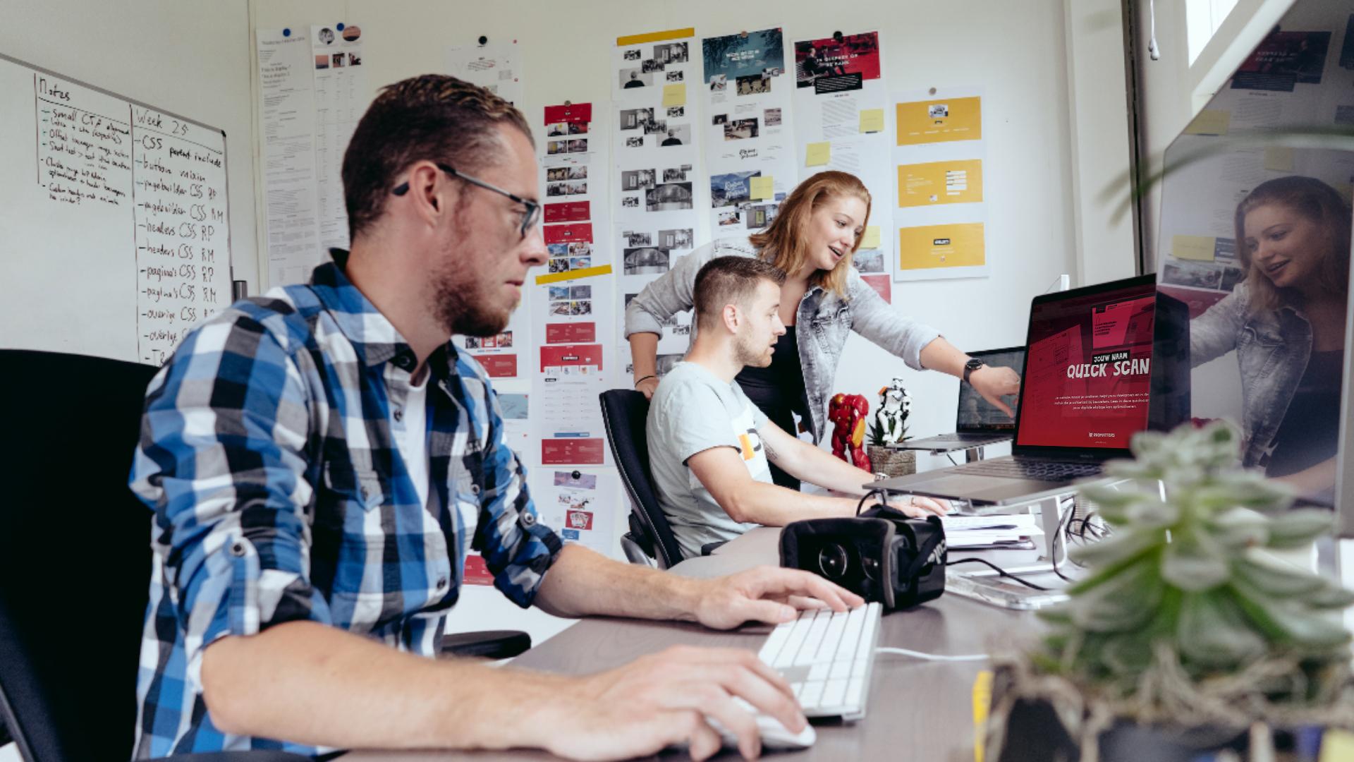 Experts die gratis website analyse uitvoeren