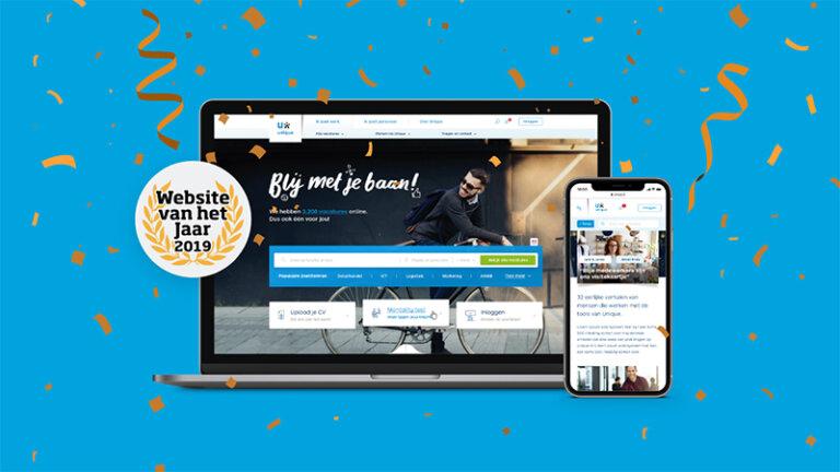 Award voor website van het jaar voor ons digital team