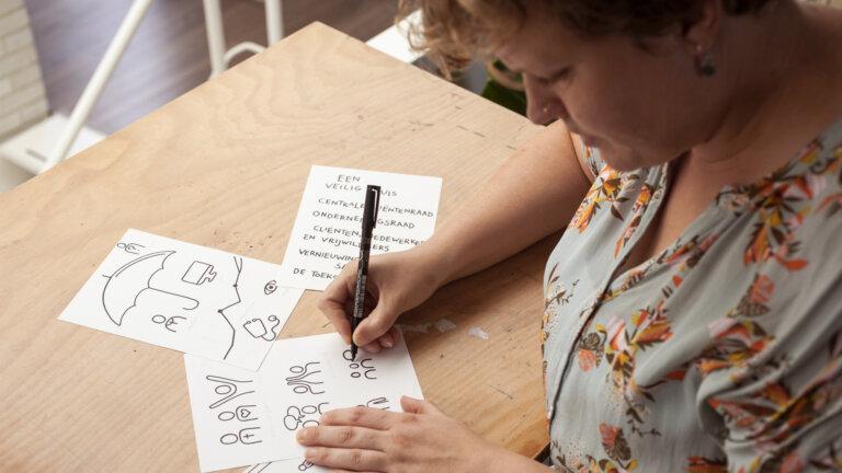 Hartenrakers schetsen illustratie