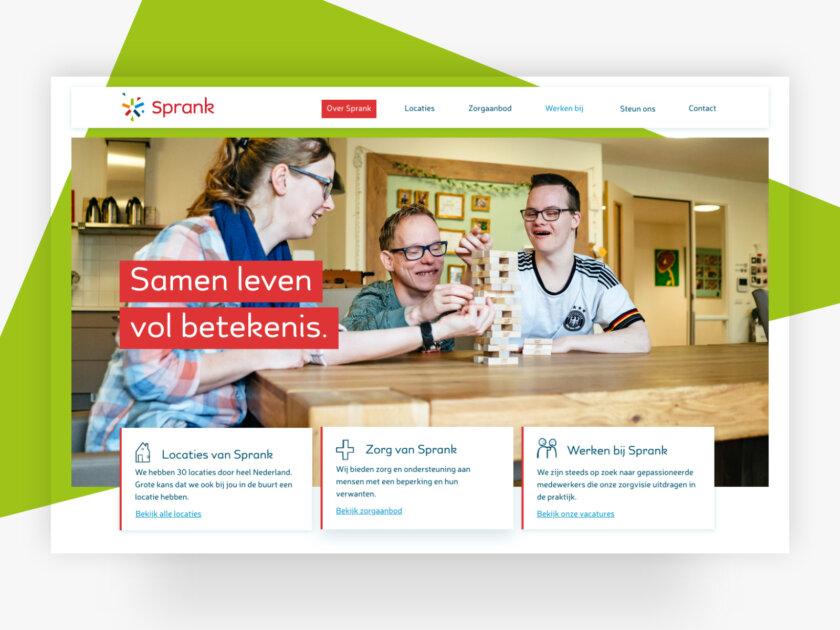 Website header - Sprank